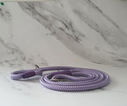 Handmade Rope Dog Collar Lilac with whipping - Collared Creatures