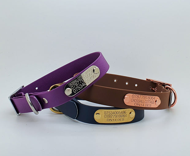 Black Waterproof Dog Collar - Collared Creatures