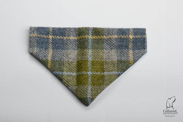 product photo of collared creatures old shawbost tweed luxury bandana