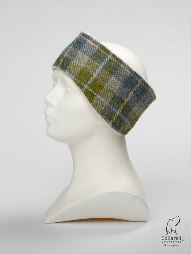 Collared Creatures Old Shawbost Tweed (Amor Weavers) Luxury Ladies Headband