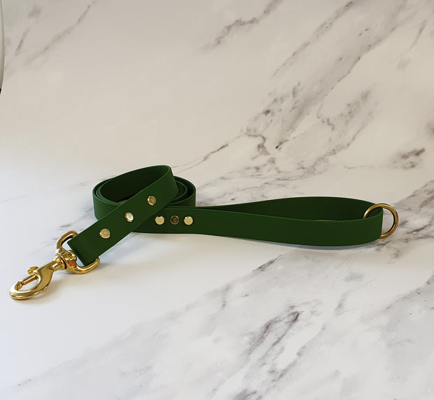 Olive Green Waterproof Dog Collar