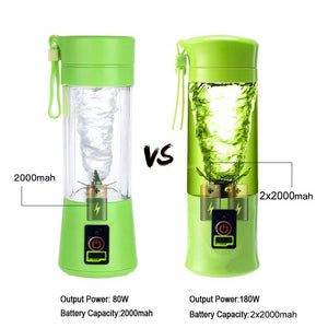 Portable Blender, USB Juicer Cup, Fruit, Smoothie, Baby Food Mixing Machine with Powerful Motor, 2x2000mAh High Capacity Batteries