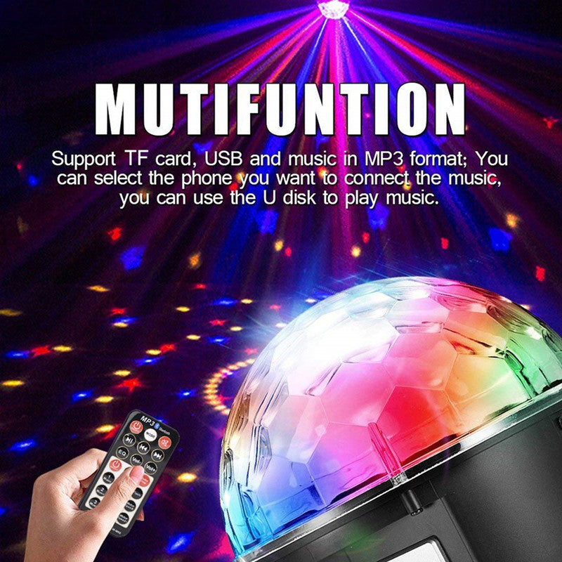 2019 New 9 Color LED Disco Ball Party Lights  Sound Activated DJ Lights