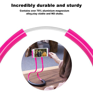 Creative Bedside Slacker Phone Hanging Neck Mobile Phone Holder General Bracket for Mobile Phone Plate Neck Stents