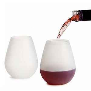 (FREE SHIPPING !)Silicone Wine-Glass Cup