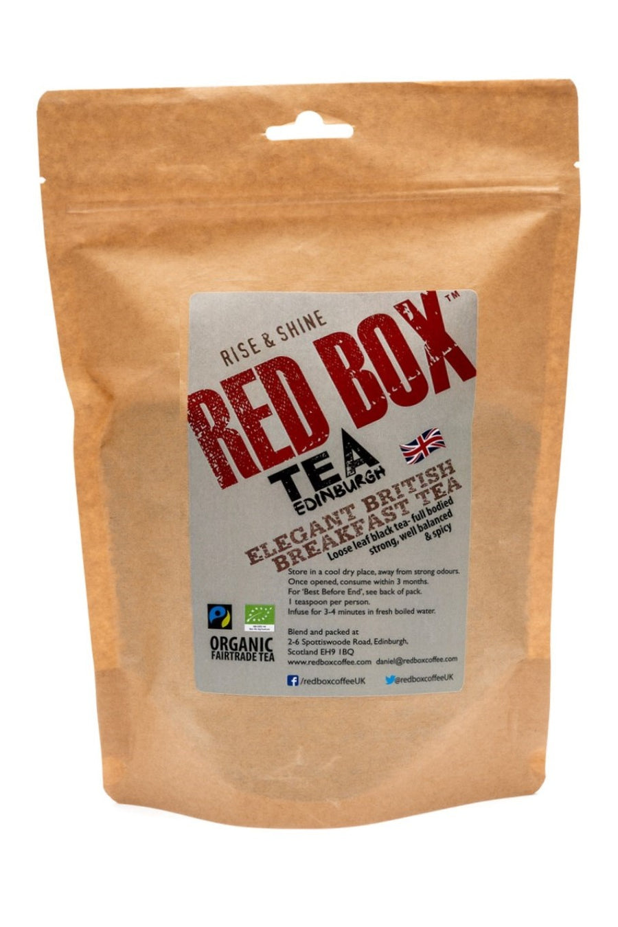 Red Box Tea Elegant British Breakfast Tea Loose