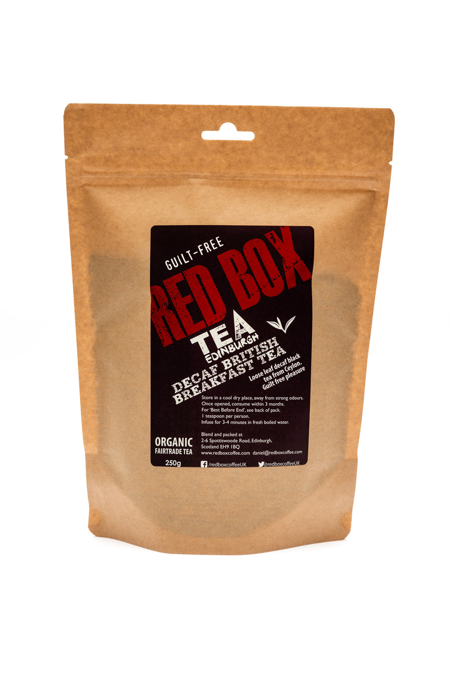 Red Box Tea Decaf British Breakfast Tea Loose