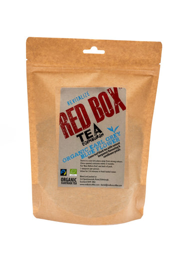 Red Box Tea Organic Earl Grey Blue Flower Loose