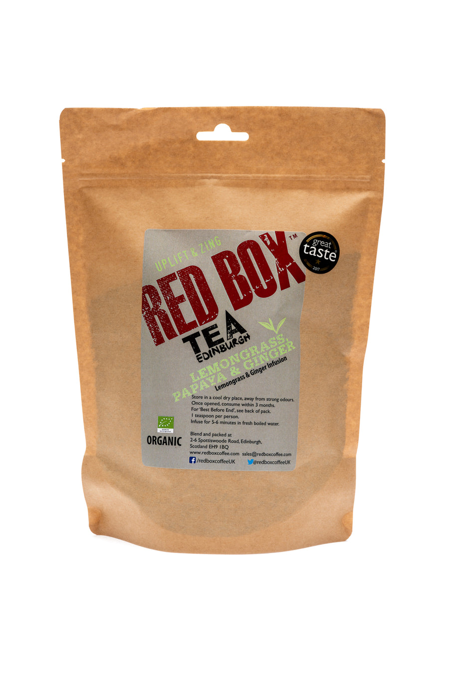 Red Box Tea Lemongrass, Papaya & Ginger Bags