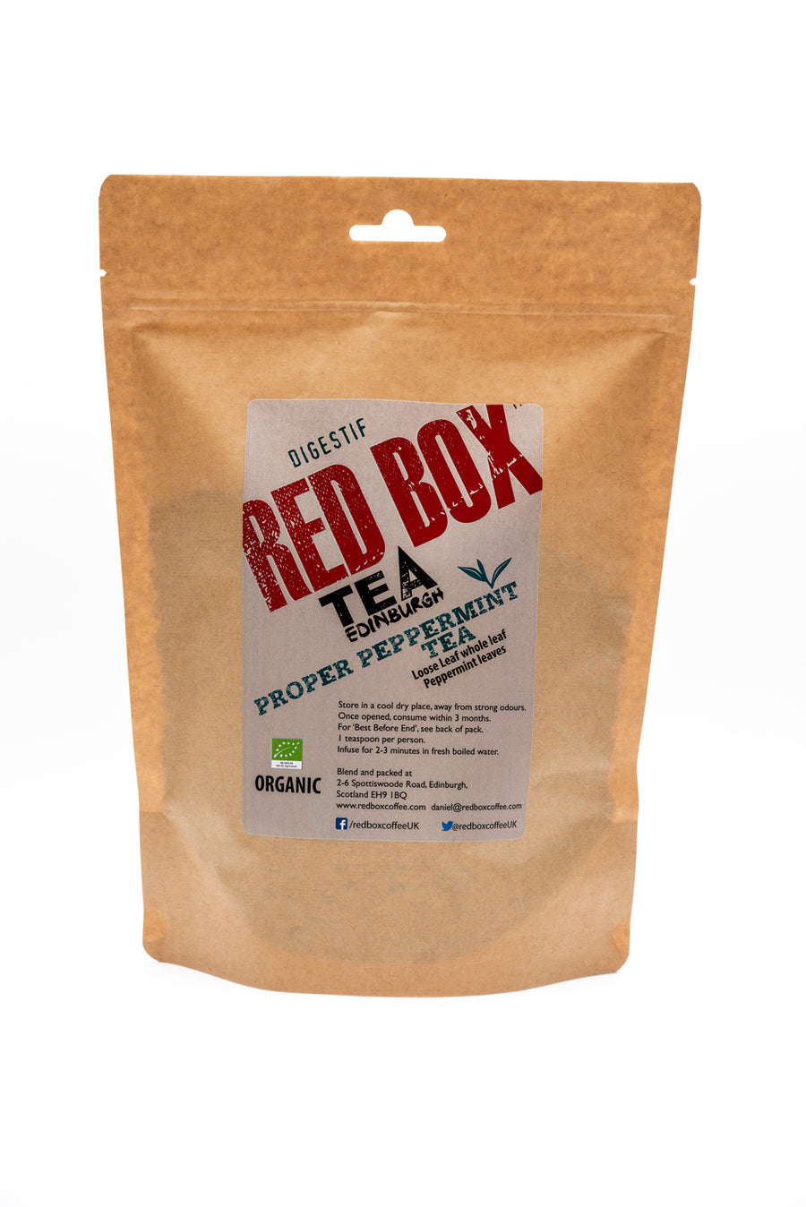Red Box Tea Proper Peppermint Bio Tea Bags