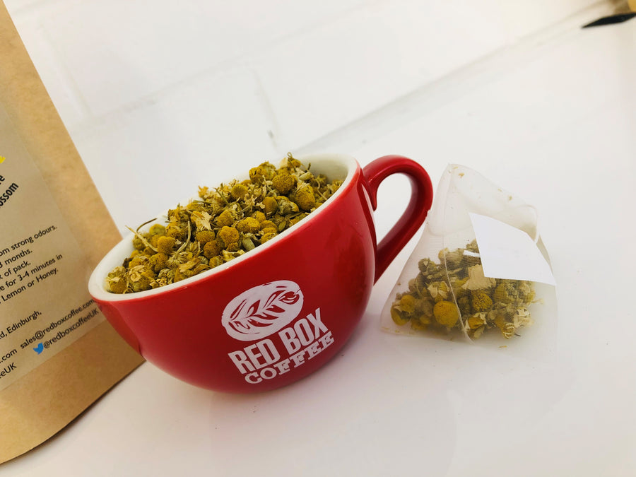Red Box Calming Camomile Blossom Bio Tea Bags