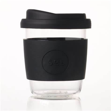 SoL Re-usable Glass Coffee Cup