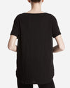Boyfriend Crew Neck Tee in Black
