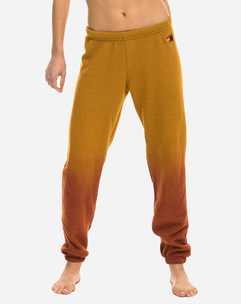 Faded Sweatpant in Nugget Gold/Red