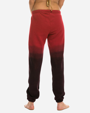 Faded Sweatpant in Red/Charcoal