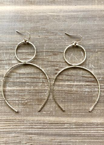 Myth Earrings in Gold