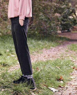 The Saddle Trouser in College Plaid