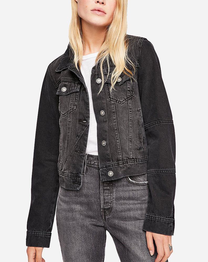Rumors Denim Jacket in Black