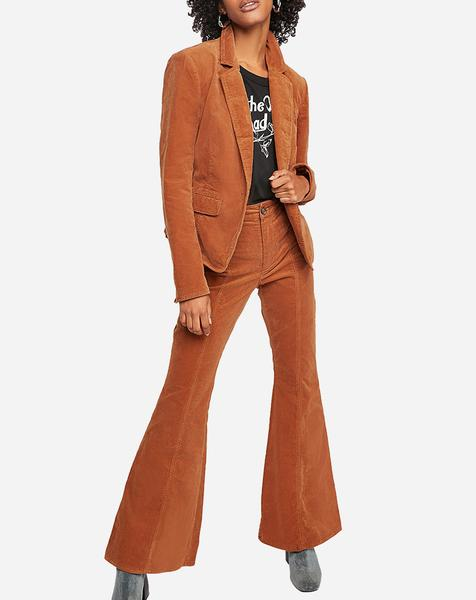 Heidi Cord Flare Pants in Brown