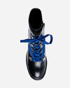 Royce Lace-Up Hiker in Black Leather