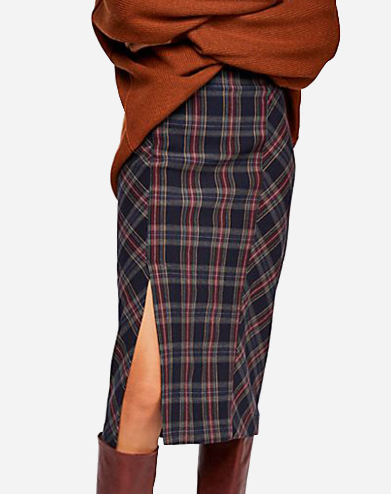 See You Glow Plaid Skirt in Wellington Plaid
