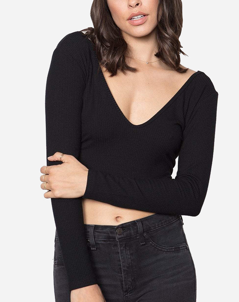 The Double V Top in Black