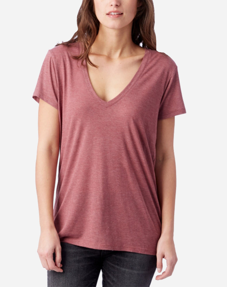Slinky V-Neck Autumn Red