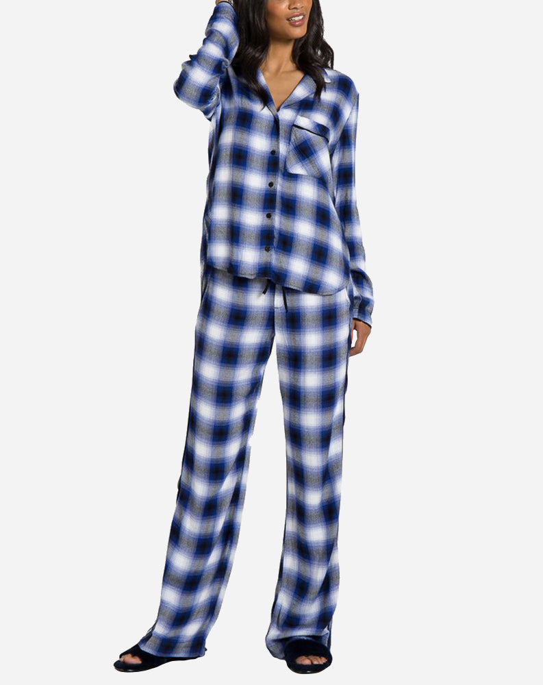 Sleep Shirt & Wide Leg Sleep Set in Cobalt