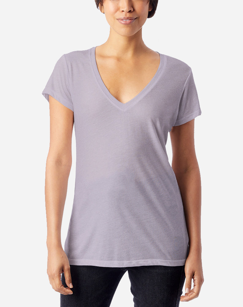 Slinky V-Neck in Lilac Mist