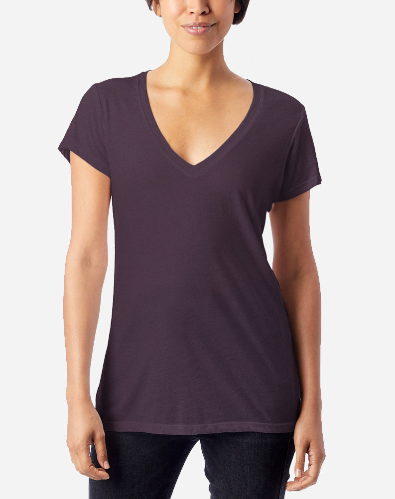 Slinky V-Neck in Dark Purple