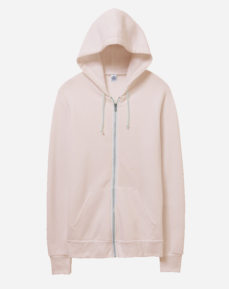Rocky Eco Fleece Zip Hoodie in Eco Peach