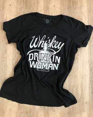 Whiskey Drinkin' Woman Tee in Black/White