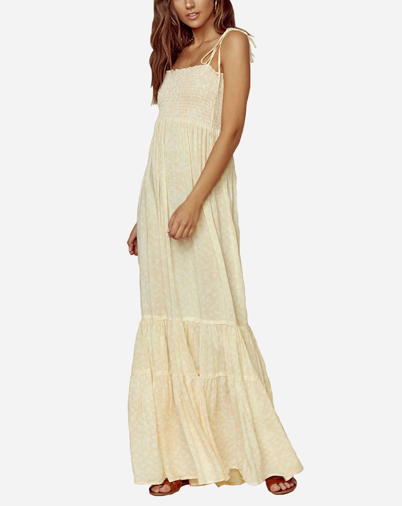 Summer Breeze Maxi Dress in Distressed Leopard
