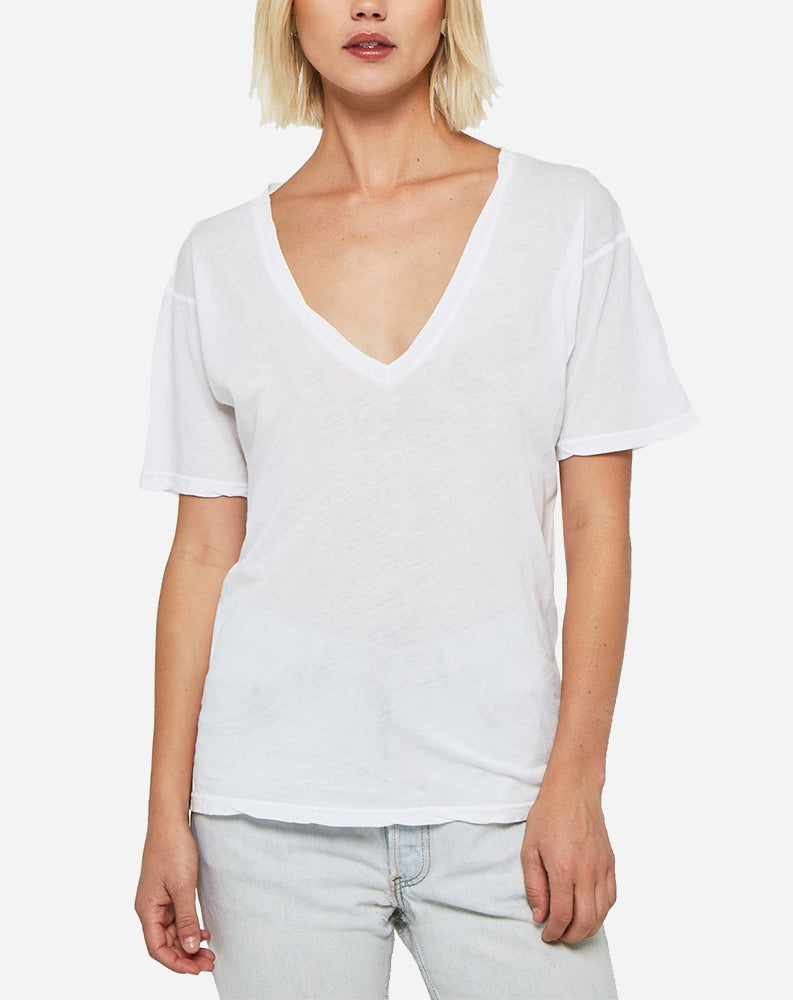 The Softest V-Neck in White