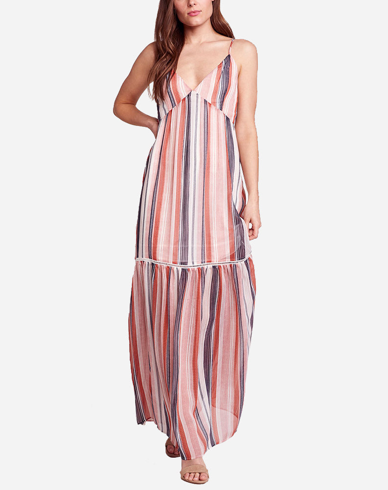 Sailor's Delight Maxi Dress in Rose Dawn