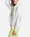 Lissete Pullover Hoodie in Soft White