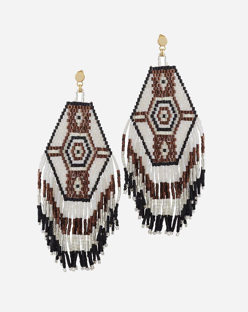 Muy Bonita Earrings in White Multi