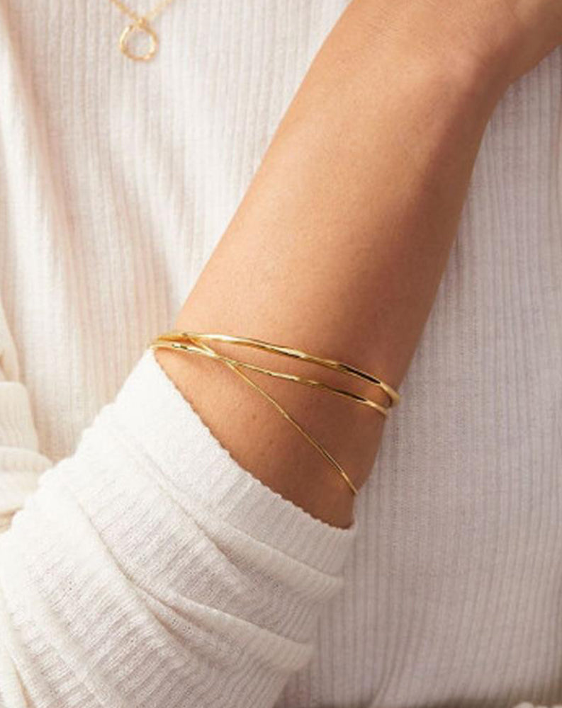 Quinn Delicate Bangle Set in Gold