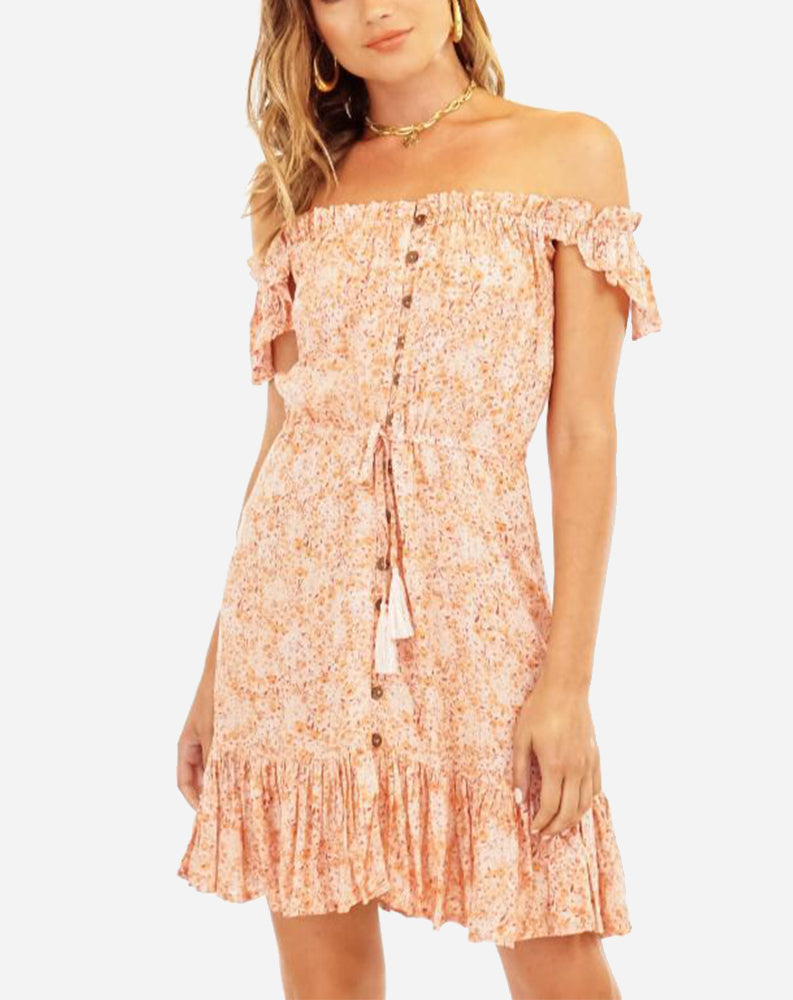 Rose Short Dress in Love Spell Rose