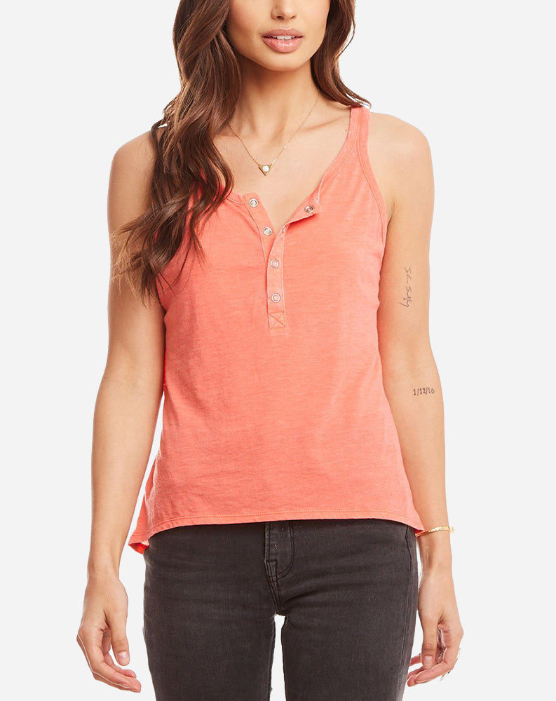 Vintage Henley Baby Tank in Sunset
