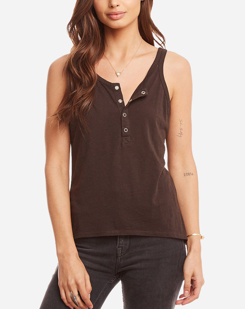 Vintage Henley Baby Tank in Union Black