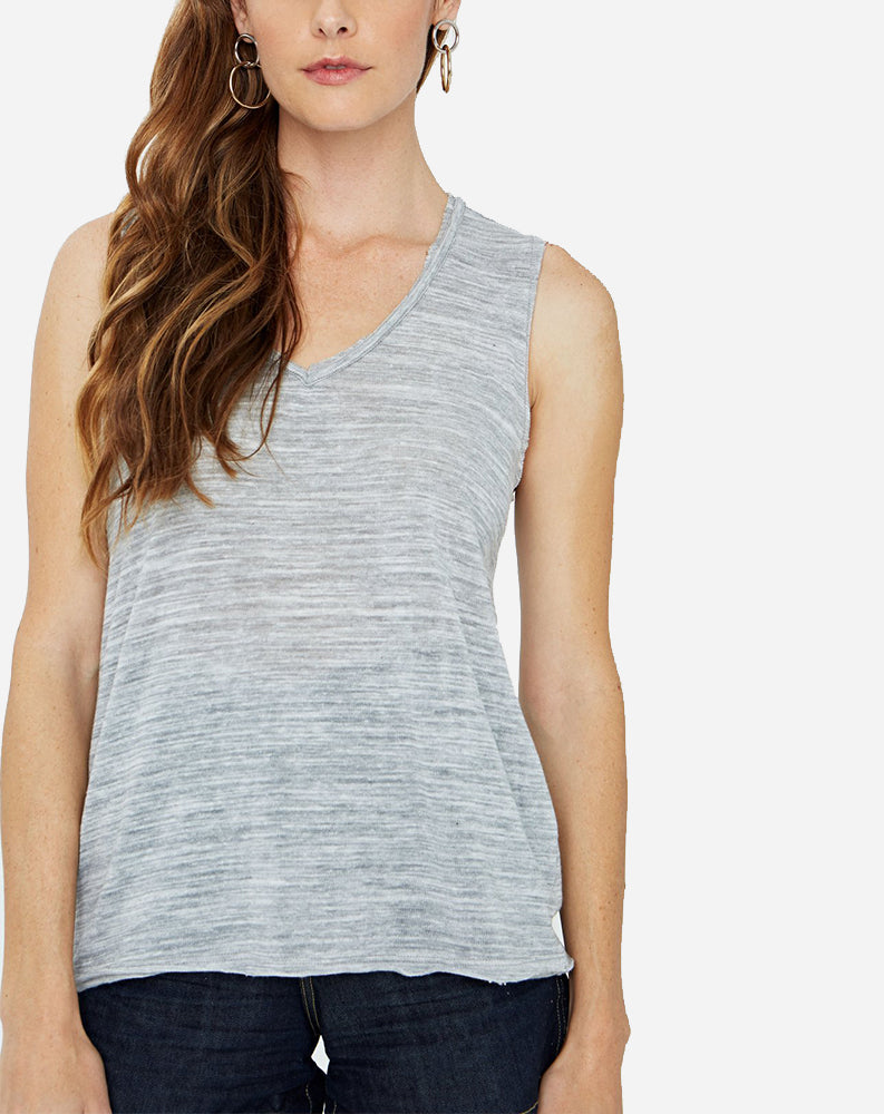 Get To It Heathered Tank in Heather Grey