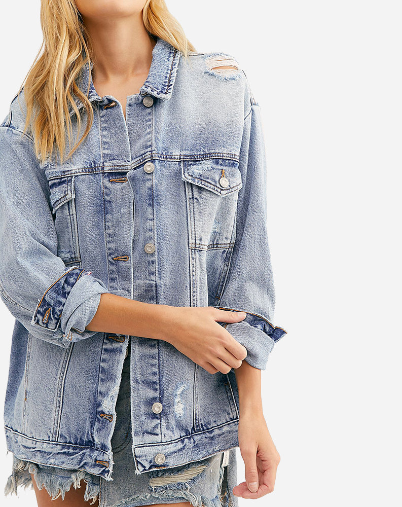 Ramona Denim Trucker Jacket in Cloud Nine Wash