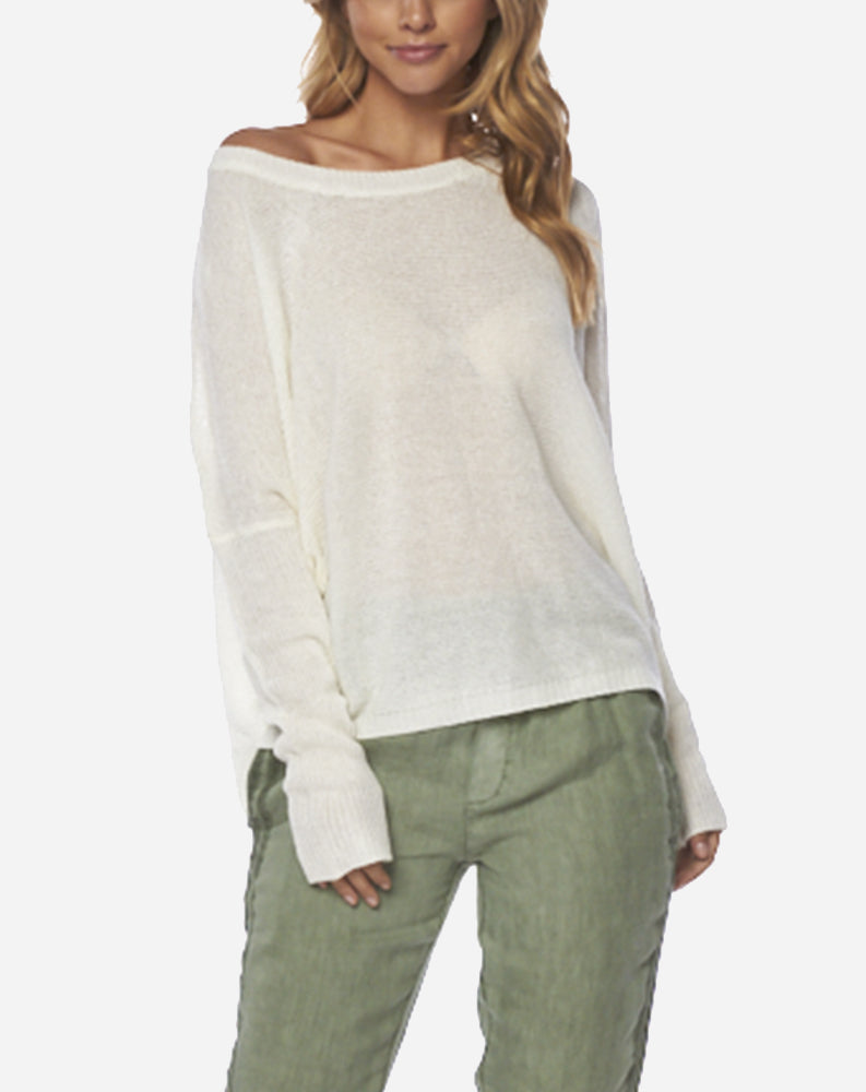 Lightweight Sweater in Ivory