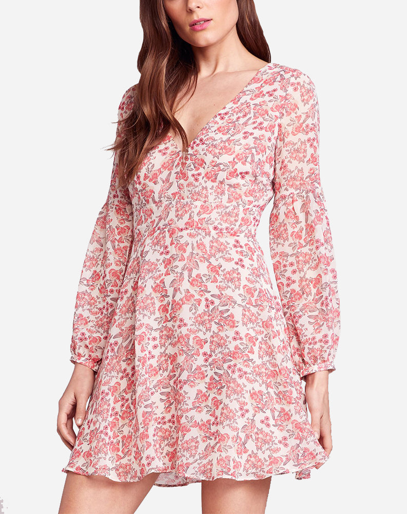 Sunday Brunch Dress in Dusty Rose Print