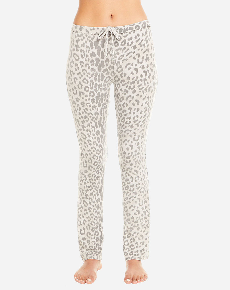 Drawstring Waist Lounge Pant in Animal Print