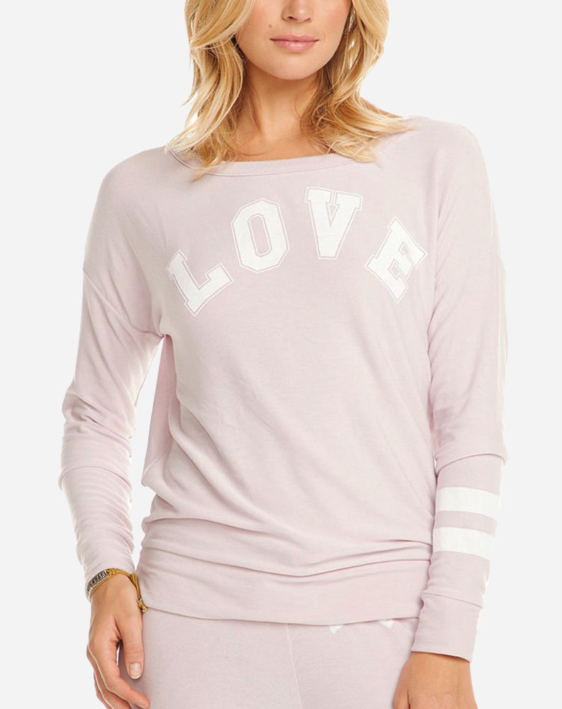 Team Love Crew Neck in Satin