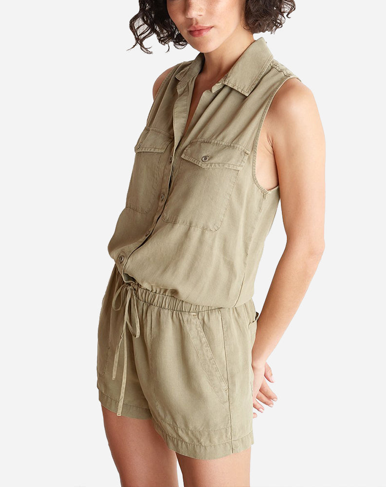 Utility Romper in Surplus