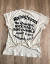 Stones Greatest Rock N Roll Band Crew Tee in Dirty White