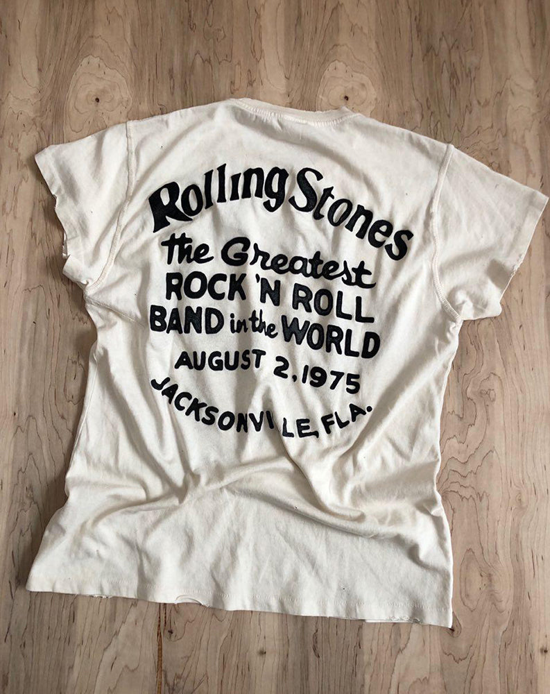 6f993a6604ac Madeworn Stones Greatest Rock N Roll Band Crew Tee in Dirty White ...